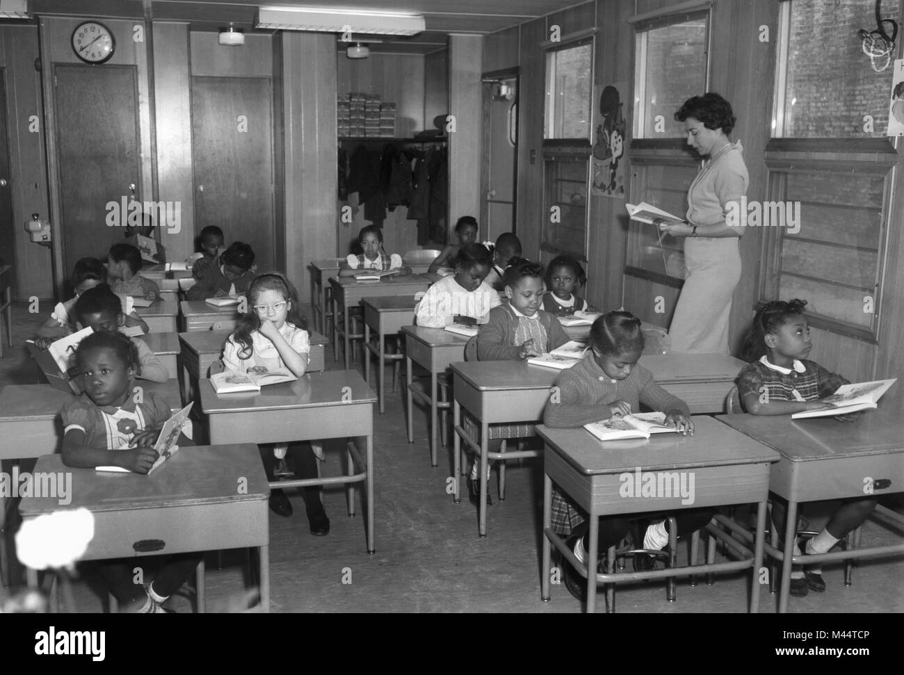 Classroom on Chicago's South Side, ca. 1961. - Stock Image