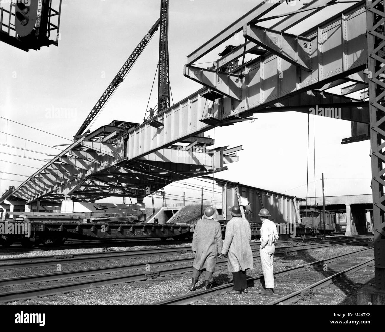 Road construction of the Chicago Skyway on the South Side of