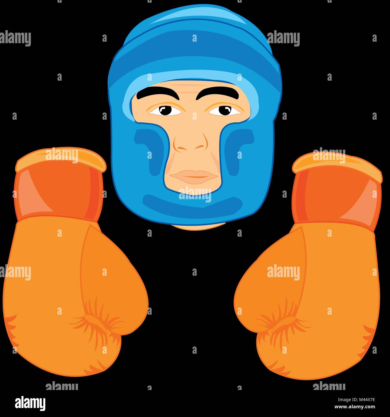 Gloves and send boxer - Stock Vector