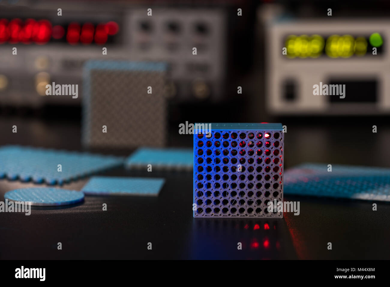 Prototype of nanostructured metamaterials in lab - Stock Image