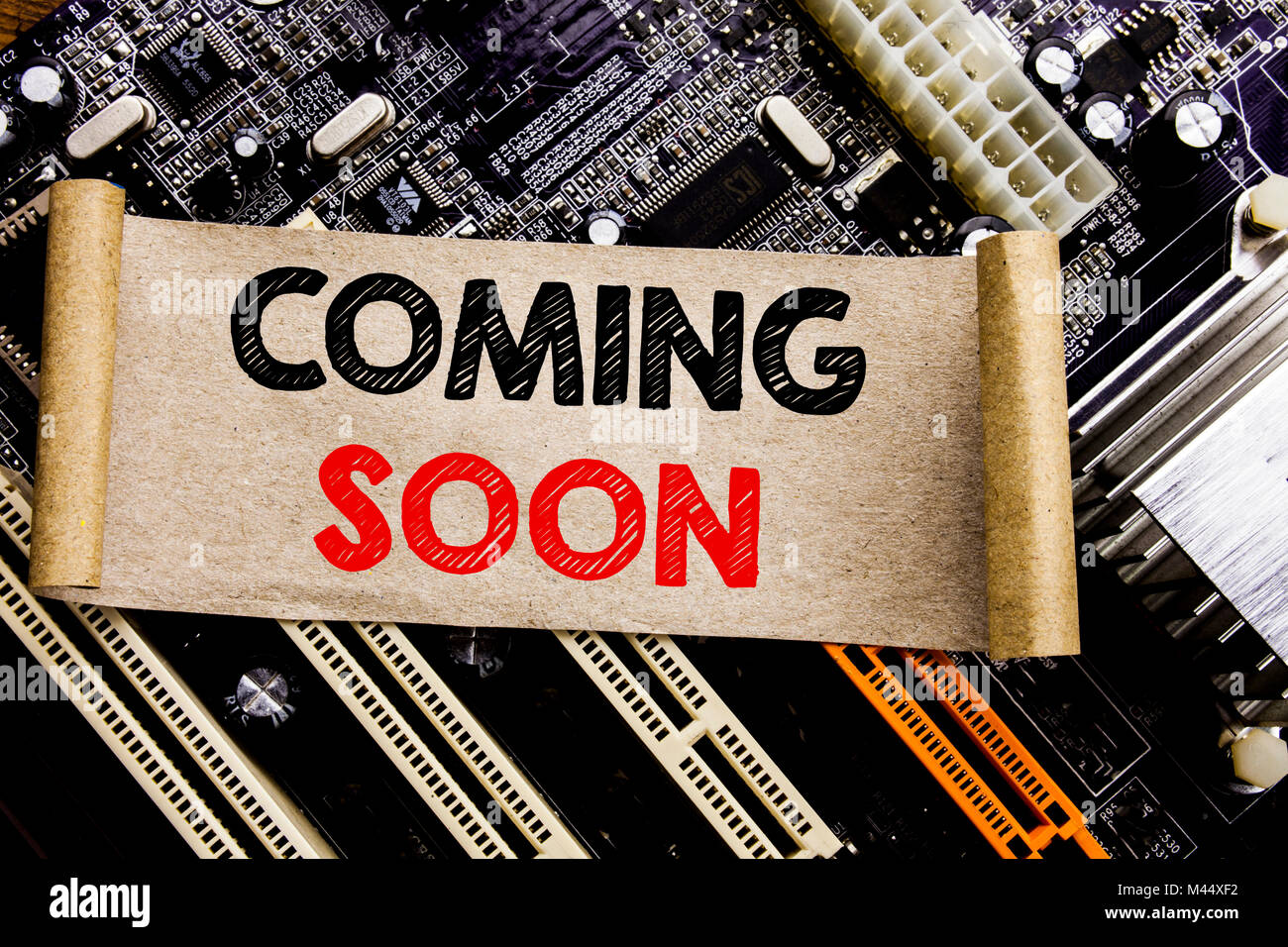 The Future Is Coming Soon Stock Photos & The Future Is