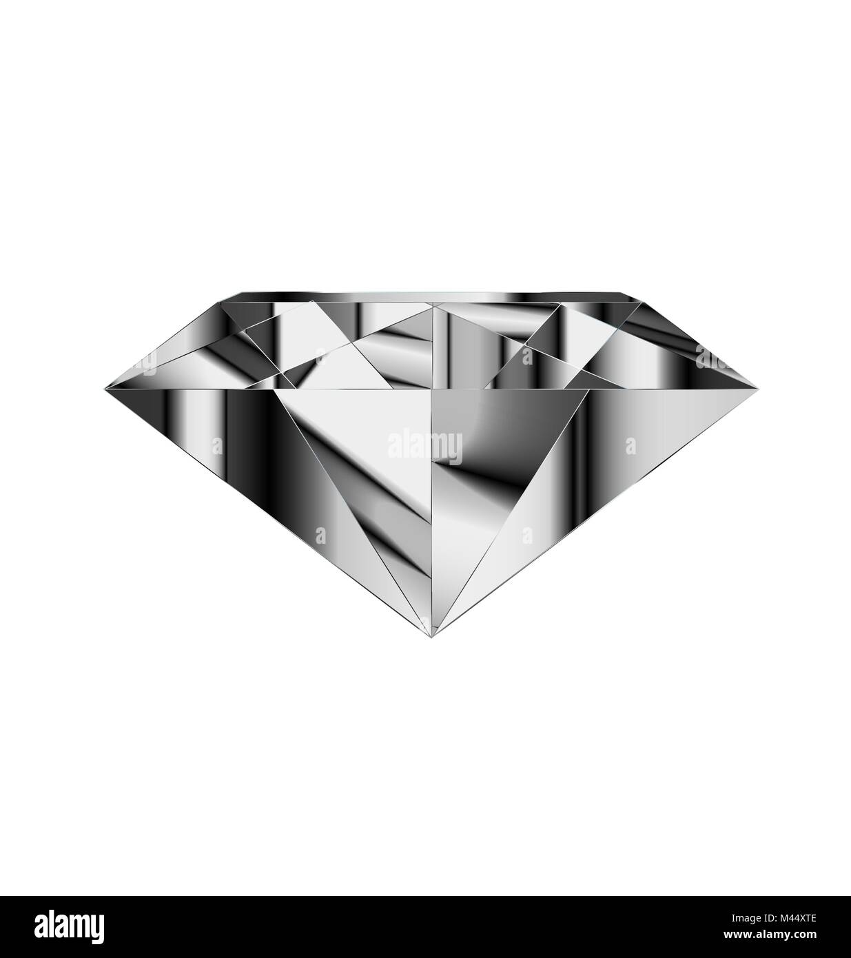 abstract white gray gem - Stock Image