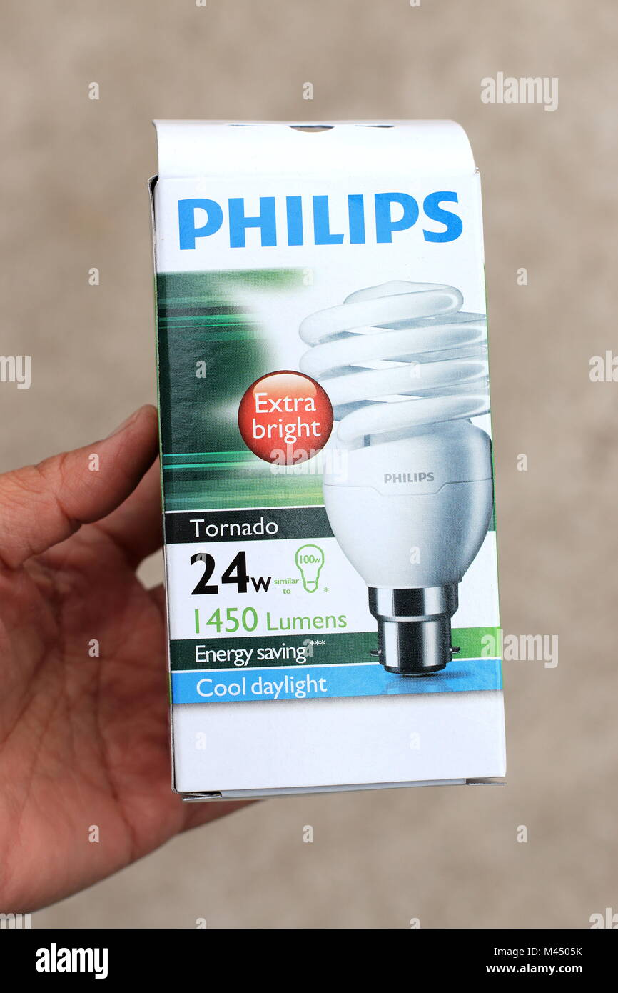 Philips Light Bulb in the box isolated Stock Photo