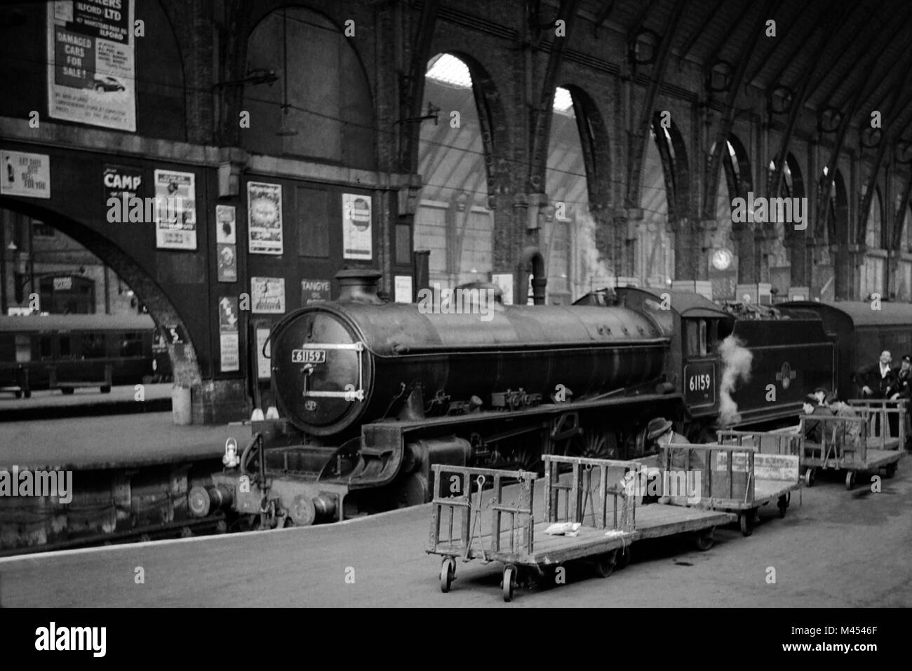 No. 61159 was an LNER Class B1 4-6-0 Designed by Thompson and built in 1947 at the Vulcan Foundry. Withdrawn from Stock Photo