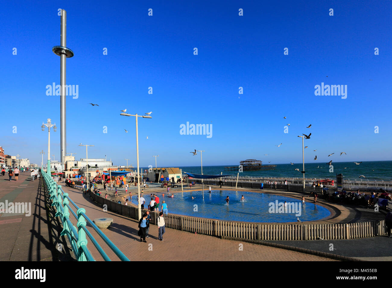The British Airways i 360 observation tower, Brighton & Hove, Sussex, England, UK - Stock Image