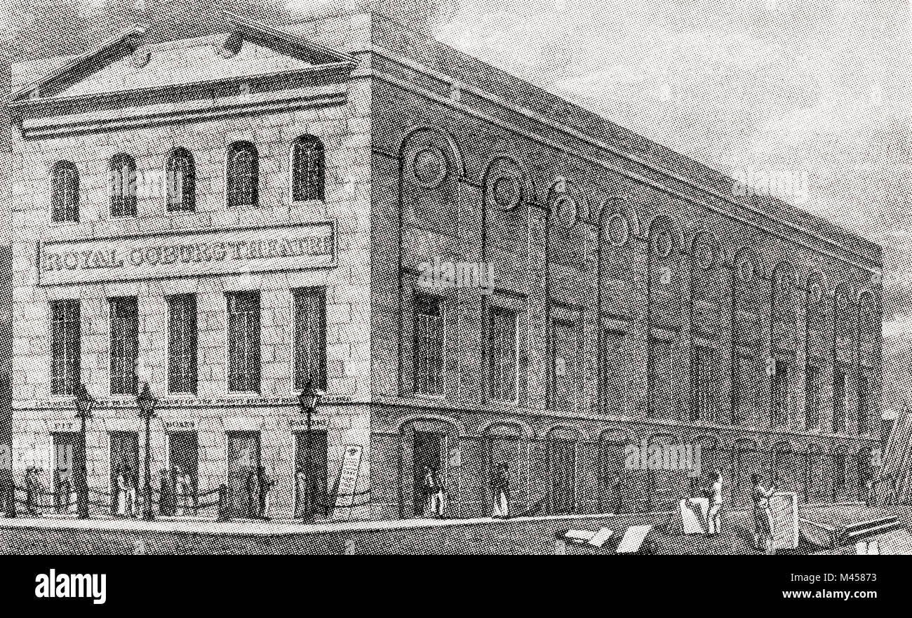 The Royal Coburg Theatrre, later The V¡ctoria or Old Vic, London, England, 1830.  From The Martyrs of Tolpuddle, - Stock Image
