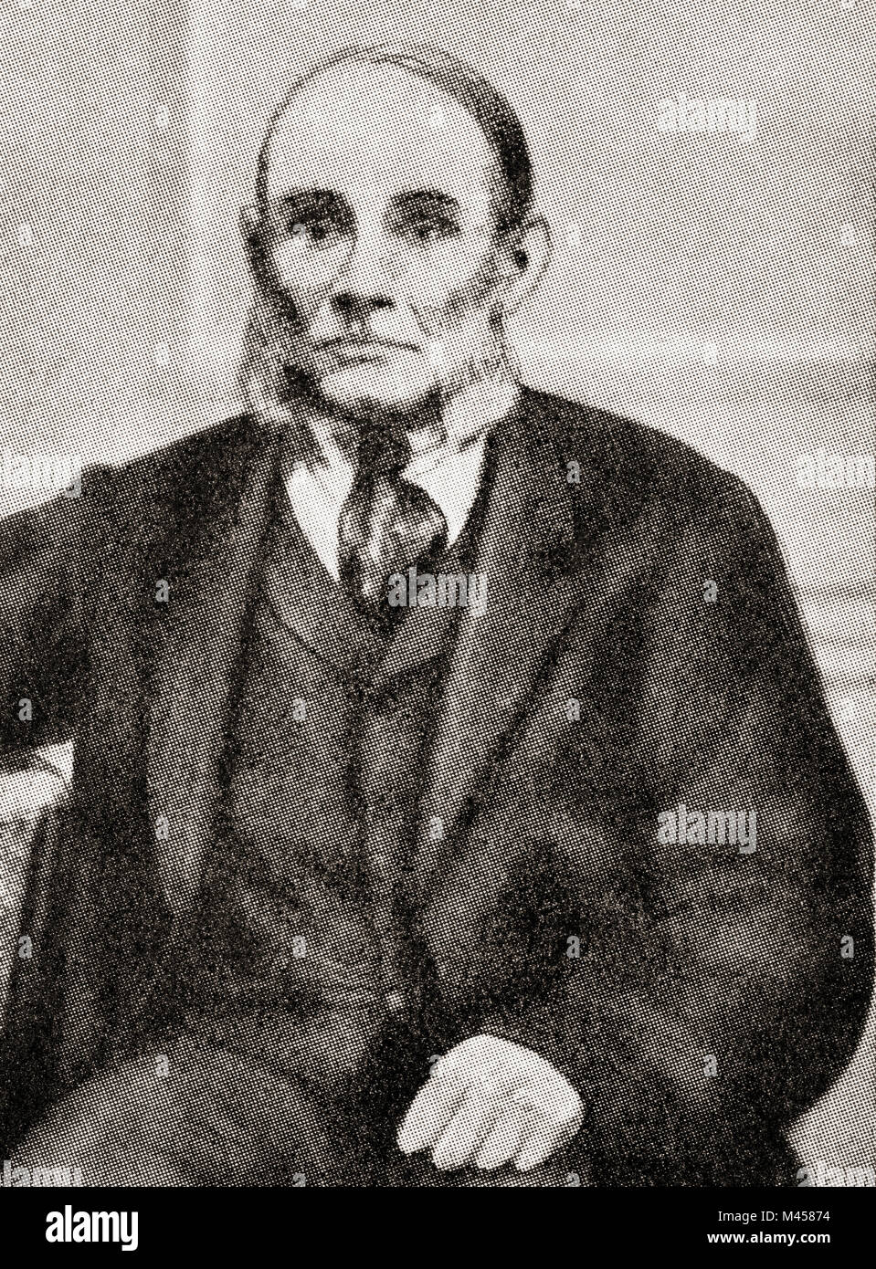 George Loveless, 1797-1874.  Dorchester labourer and Tolpuddle martyr.   The Tolpuddle Martyrs, a group of 19th - Stock Image