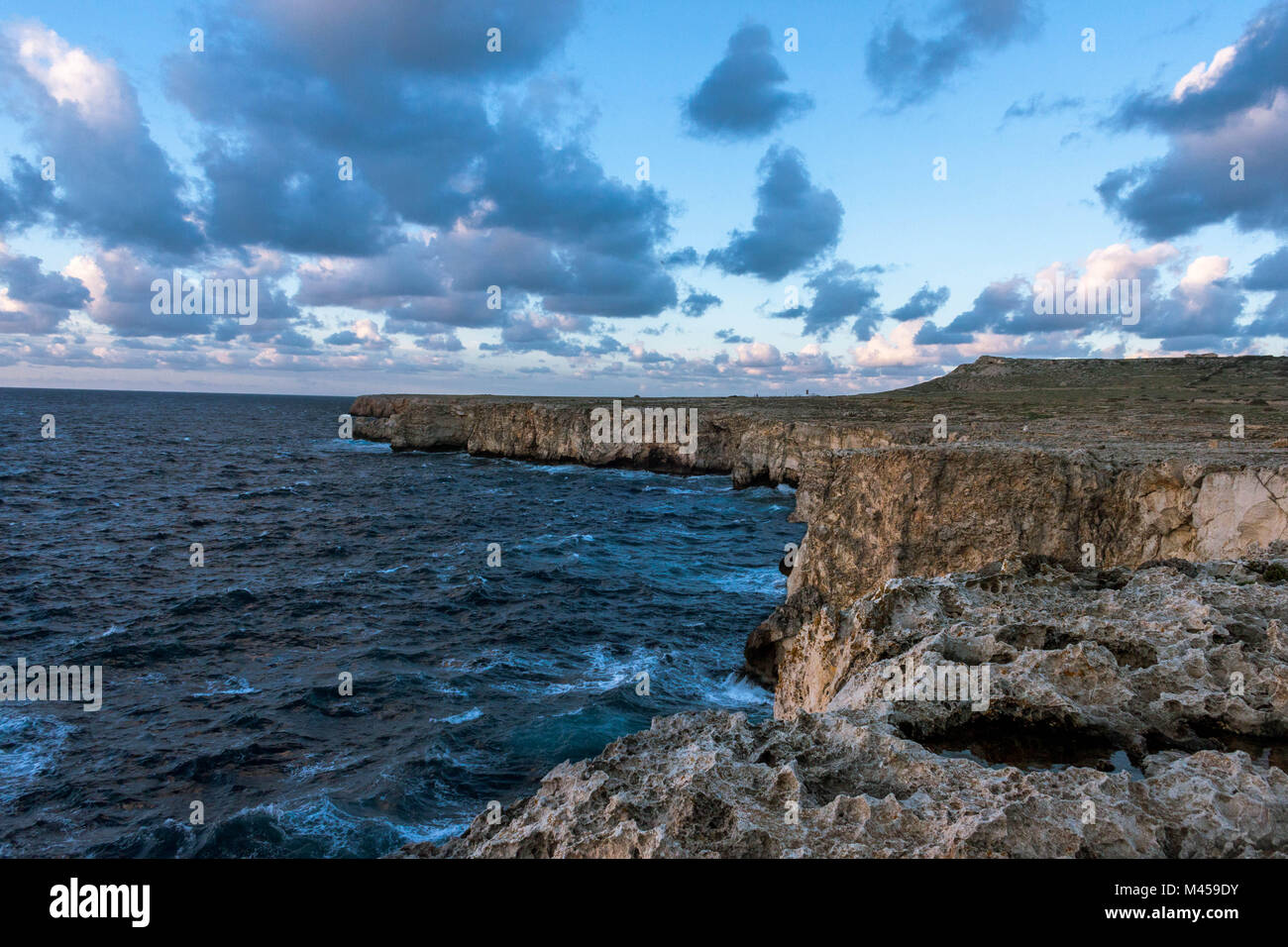 Cloudy day in Menorca. - Stock Image