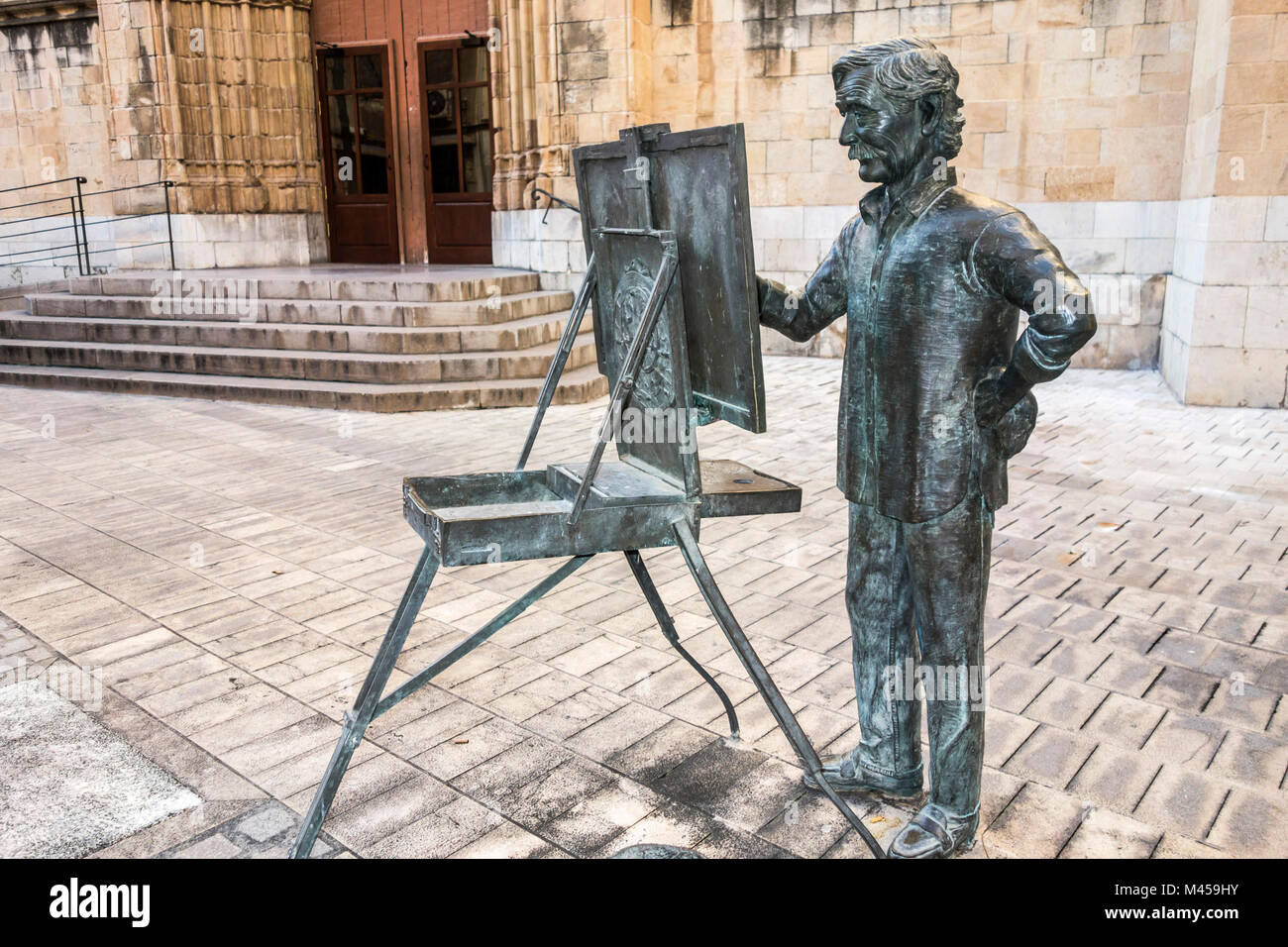 Sculpture Statue Tribute To Artist Juan Jose Salas By Carlos Vento Stock Photo Alamy