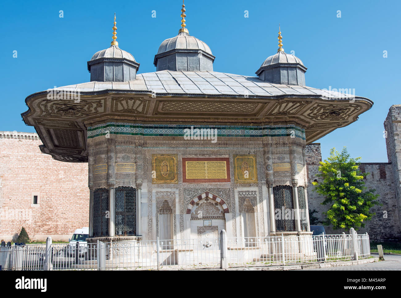 The Fountain of Sultan Ahmed III in Istanbul, Turk - Stock Image