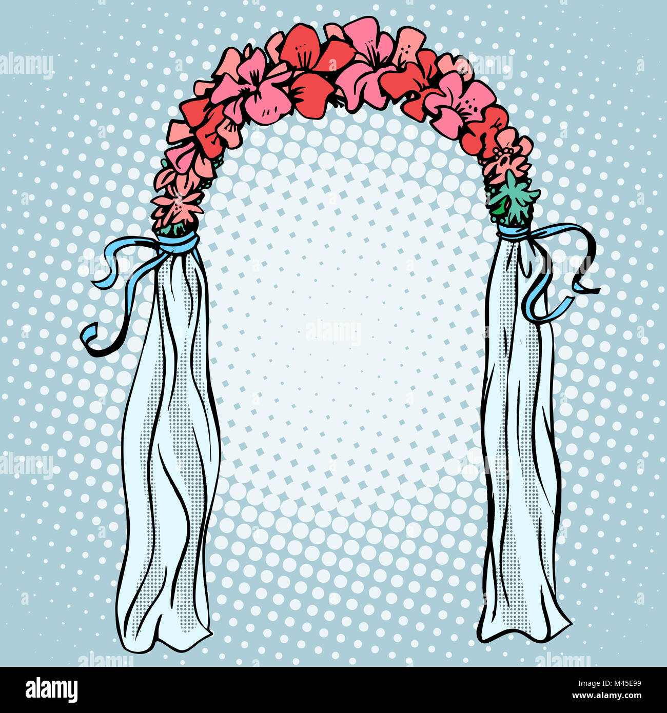 Wedding gate for the betrothal - Stock Image