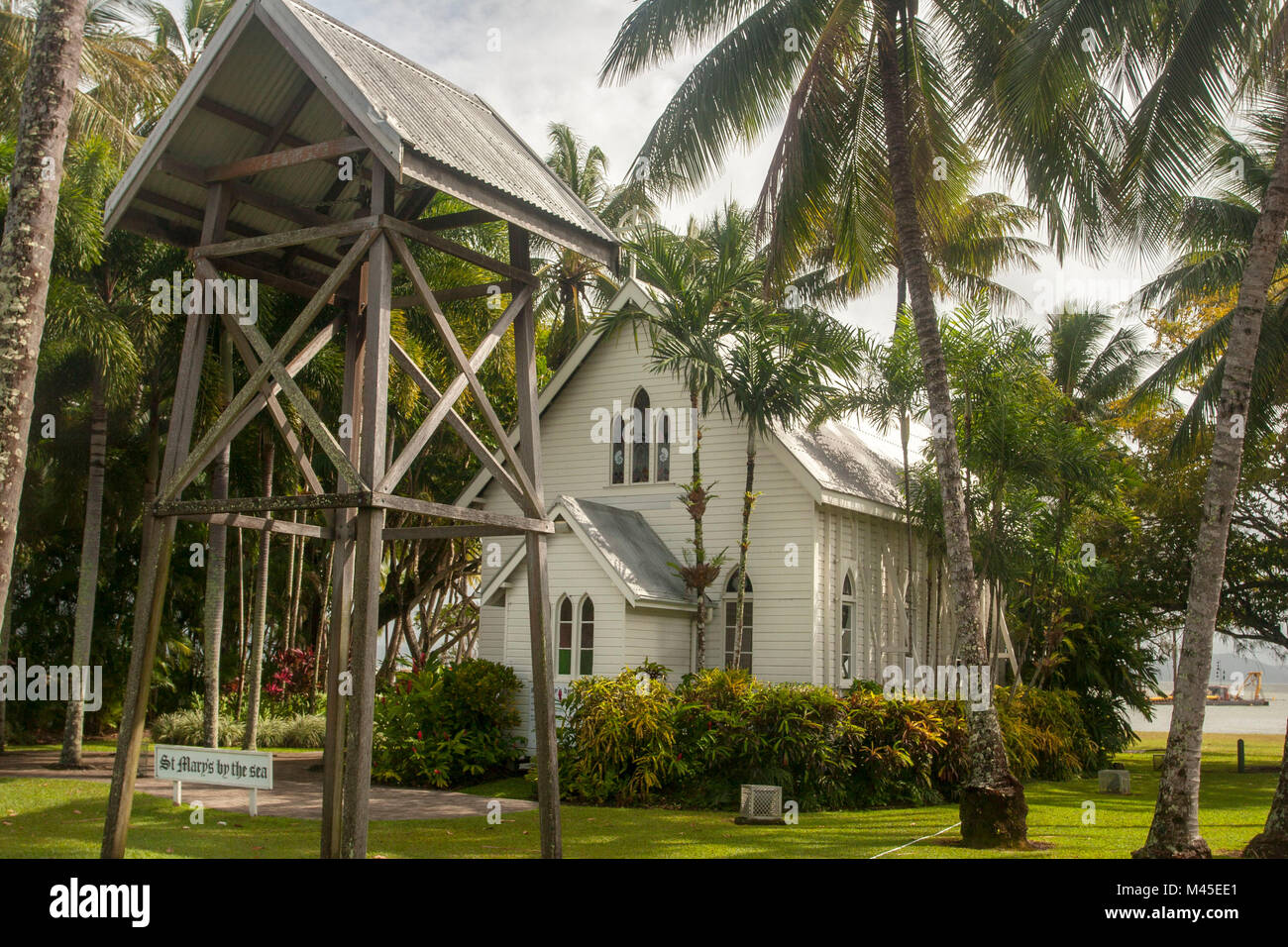 St Mary's by the Sea, heritage-listed non-denominational church in Port Douglas, Queensland, Australia Stock Photo