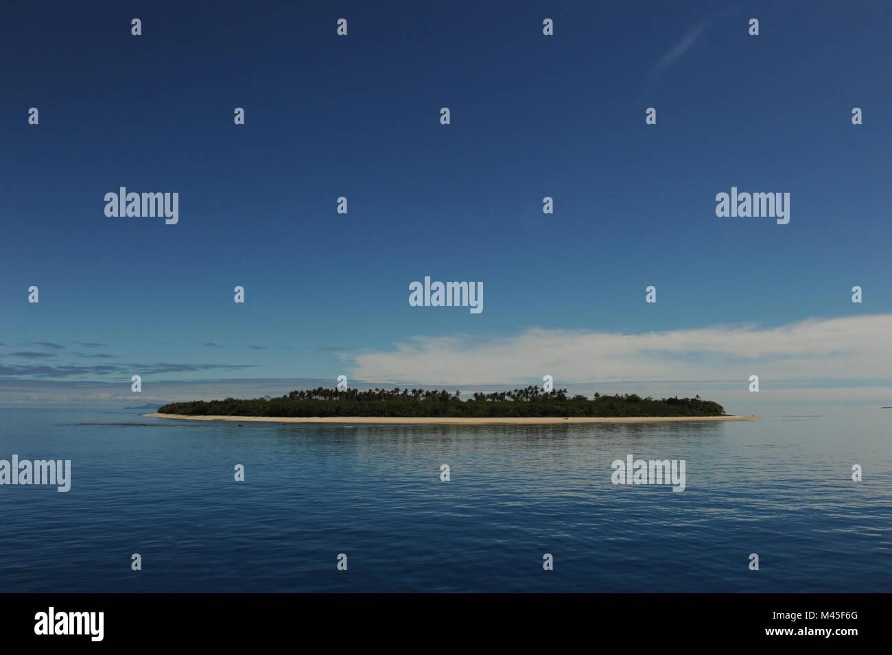 Islands of the Mamanuca's in Fiji - Stock Image