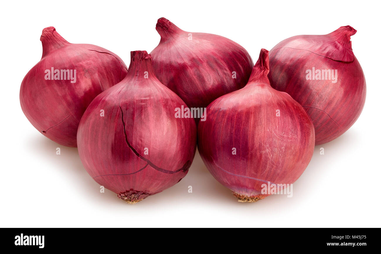 red onions path isolated - Stock Image