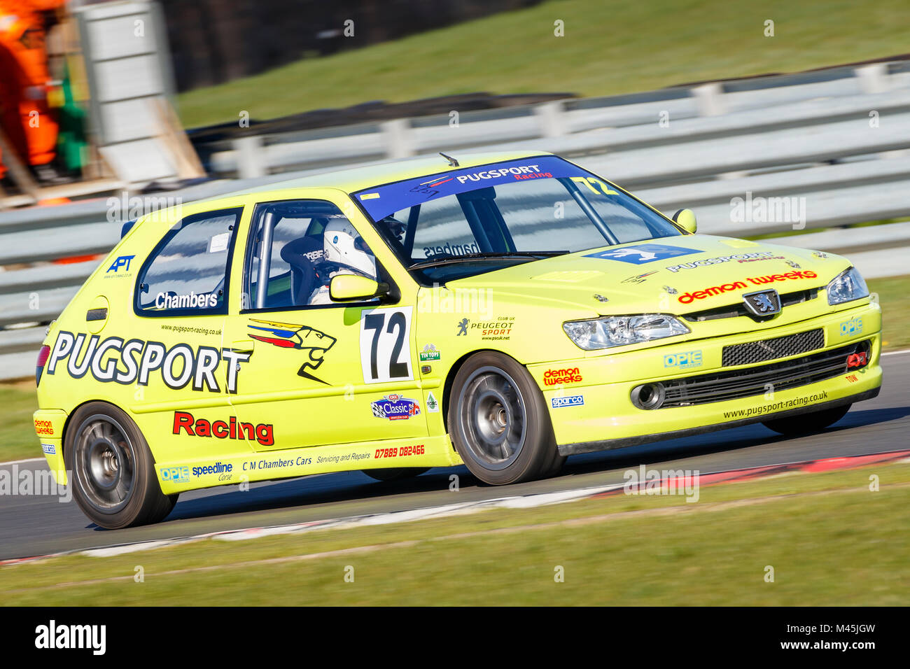 1999 Peugeot 306 Rallye Class A with driver Carl Chambers at the CSCC meeting Snetterton Motor Circuit, Norfolk, - Stock Image