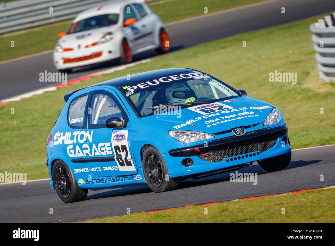 2003 Peugeot 206 Rc Class A With Driver Colin Simpson At The Cscc Stock Photo Alamy