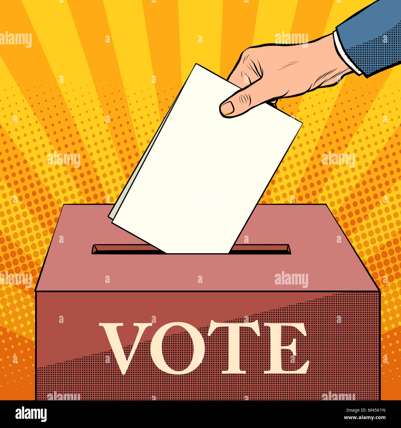 voter ballot box politics elections - Stock Image