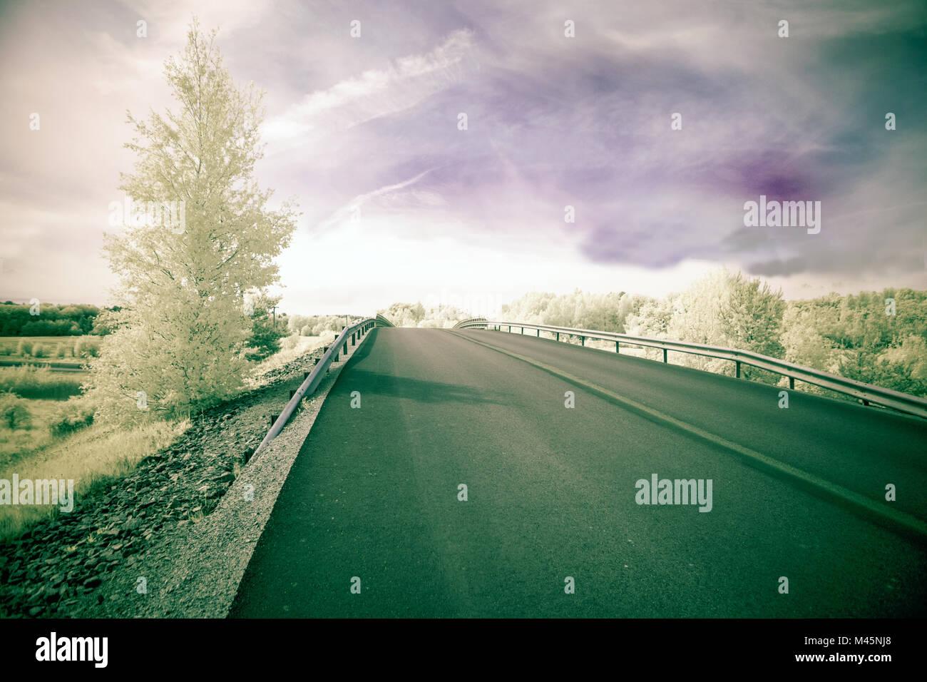 Bridge in ultraviolet - Stock Image