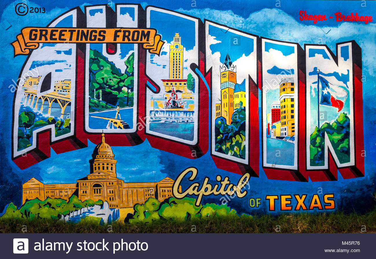 Texas postcard stock photos texas postcard stock images alamy beautiful rendition of an iconic austin postcard greetings from austin stock image m4hsunfo