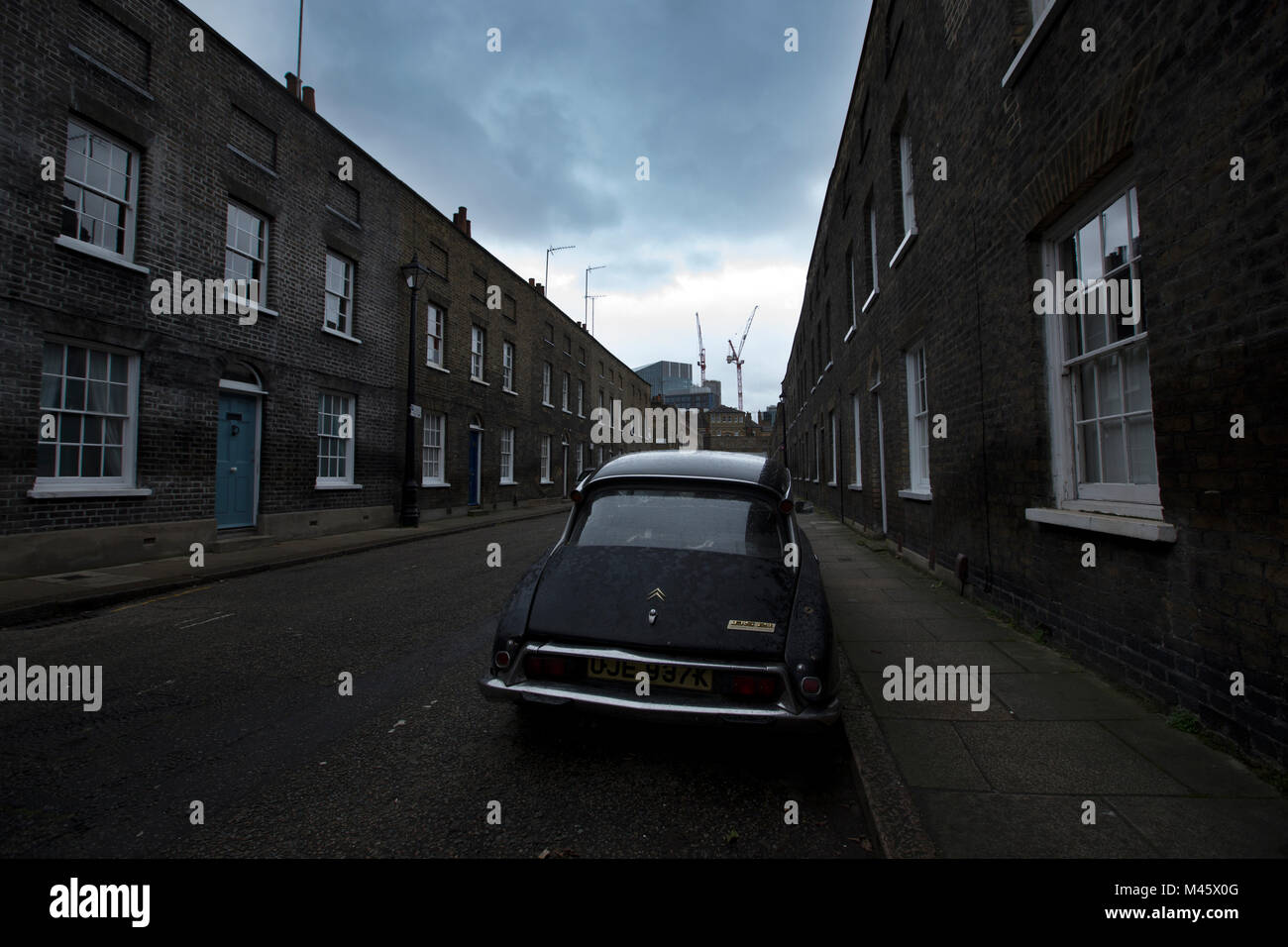 Roupell Street, part of the Lambeth Estate's Conservation Area near Waterloo, South East London, SE, England United - Stock Image