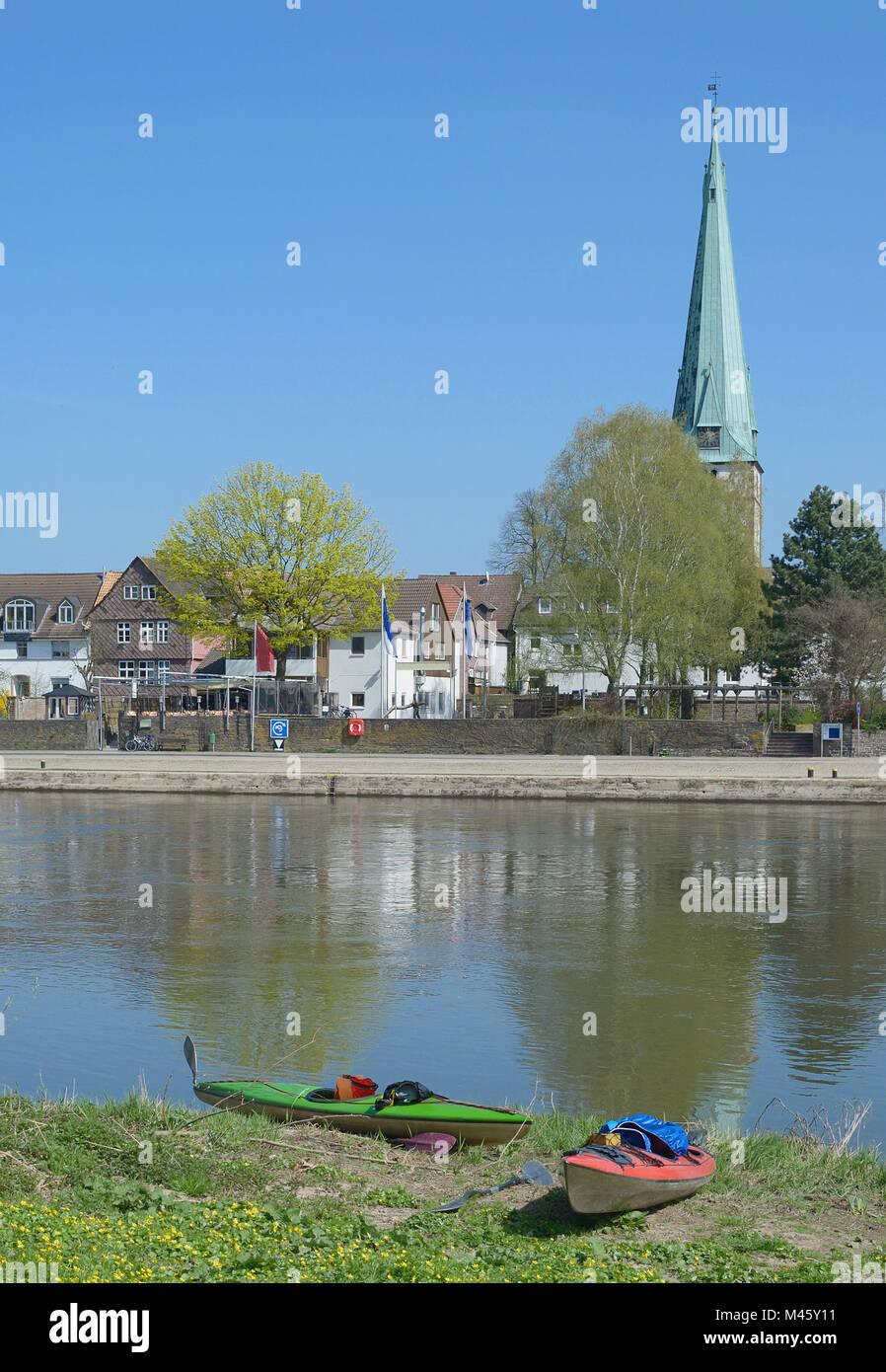 Holzminden in Weserbergland,Lower Saxony,Germany - Stock Image