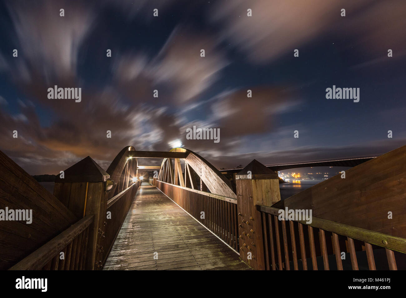 Night photography is one of the most spectacular disciplines, it is even quite fashionable. The arrival of good - Stock Image