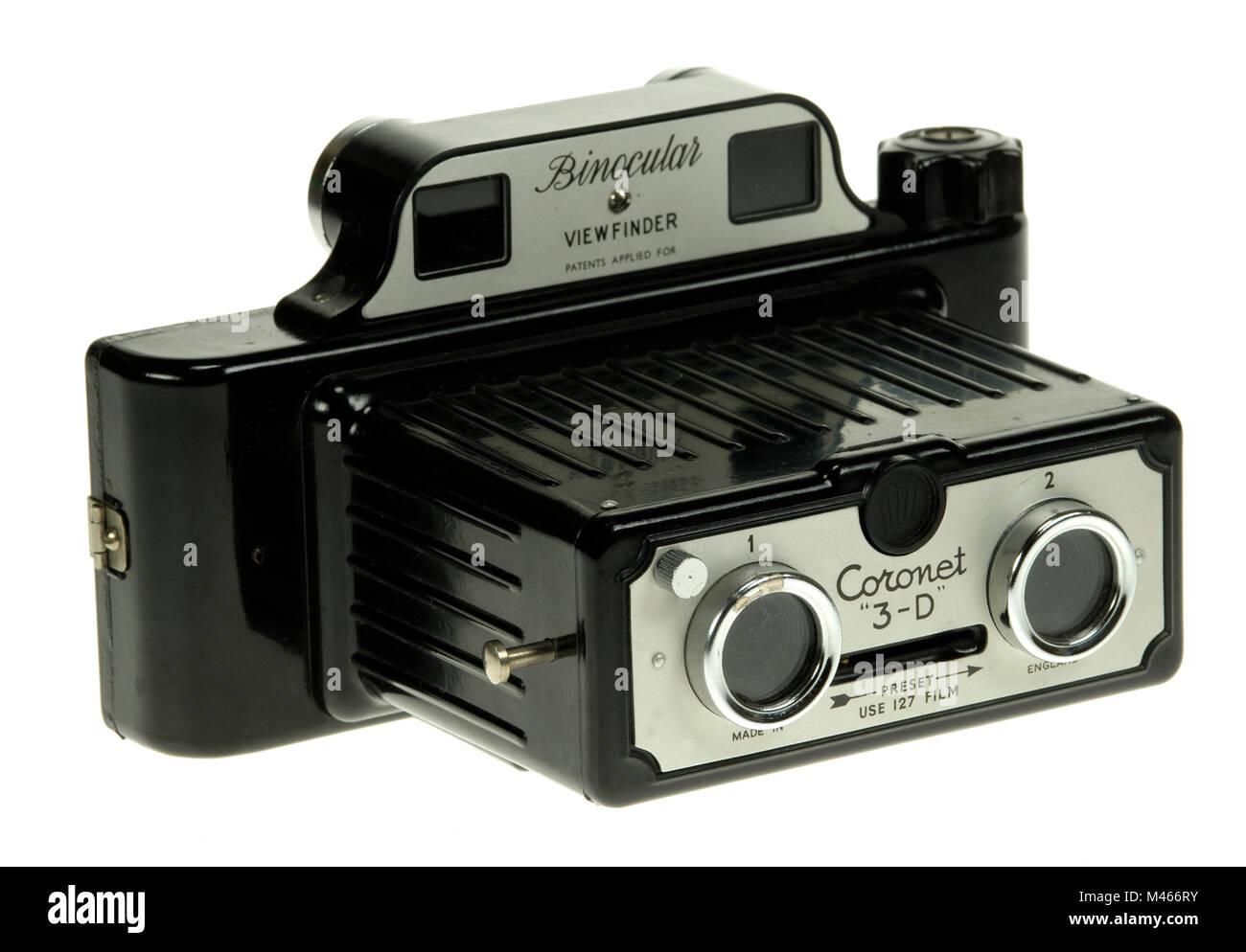 Coronet 3-D stereo camera c1953 - Stock Image