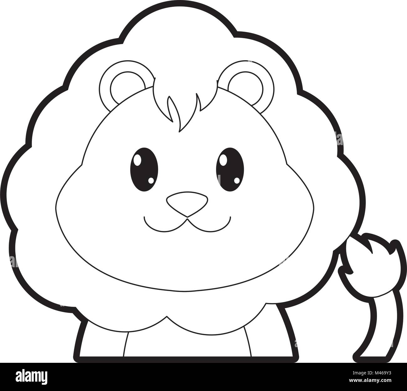 Cartoon Lion Animal Outline High Resolution Stock Photography And Images Alamy Animal outline for walrus vector. https www alamy com stock photo outline adorable lion cute animal character 174701831 html