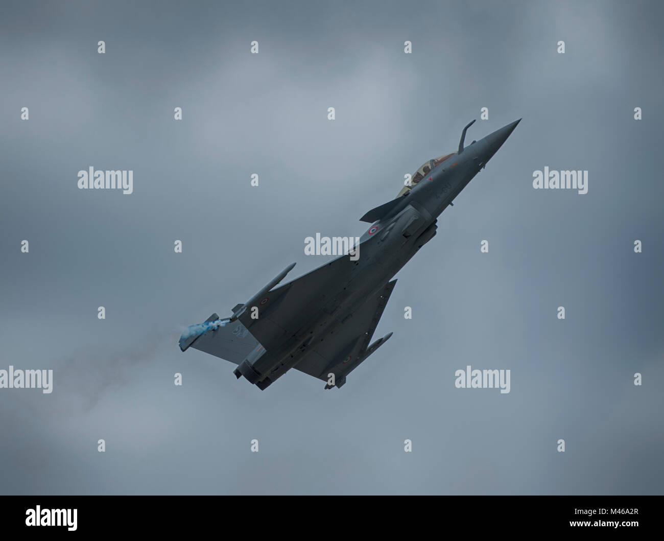 Dassault Rafale fighter aircraft flying display at RIAT, RAF Fairford, UK - Stock Image