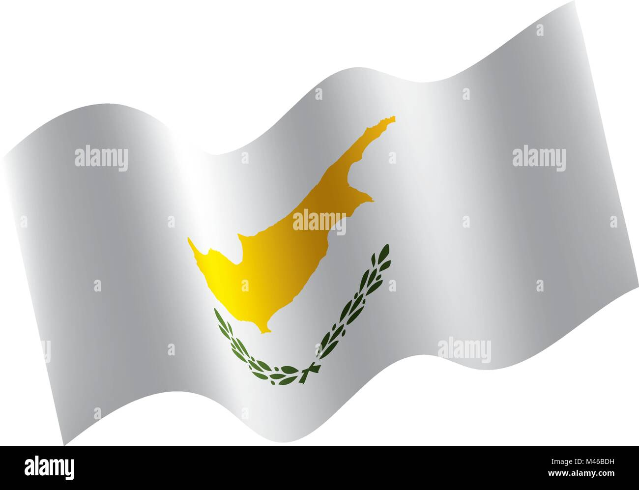 Cyprus flag, vector illustration - Stock Image