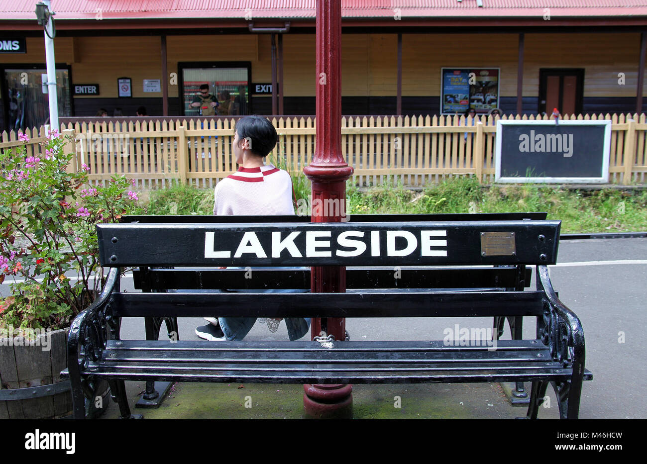 Lakeside on the Puffing Billy Steam Train route - Stock Image