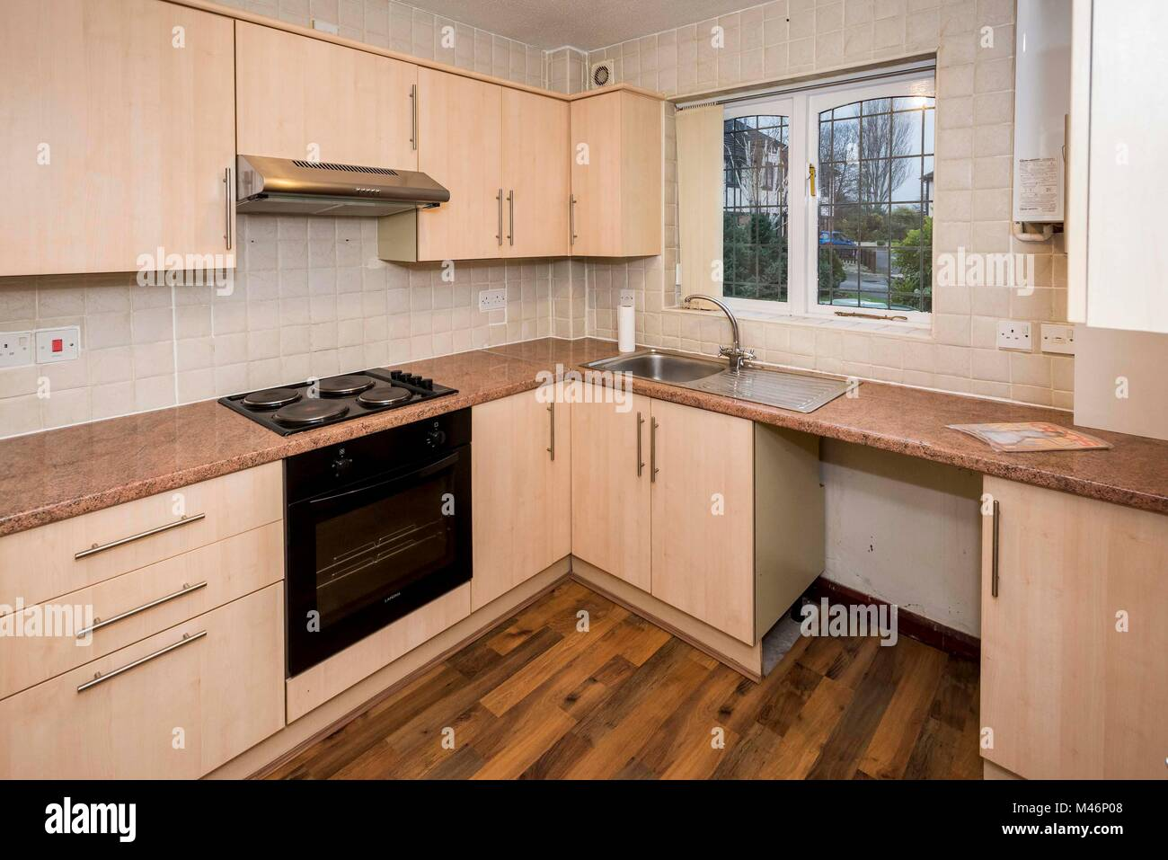 A modern average kitchen - Stock Image