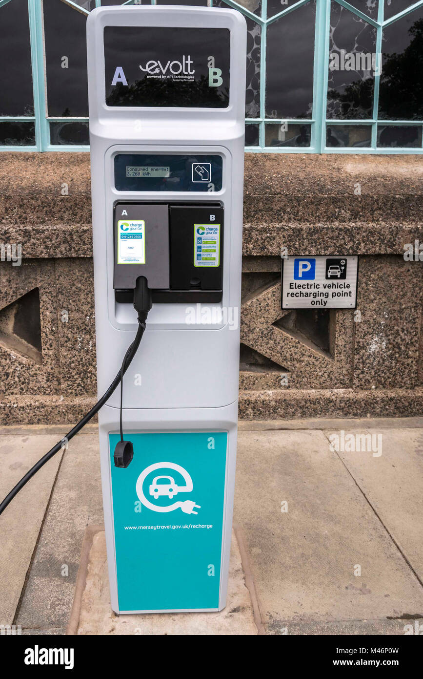 A Recarge EV electric vehicle charging point. - Stock Image