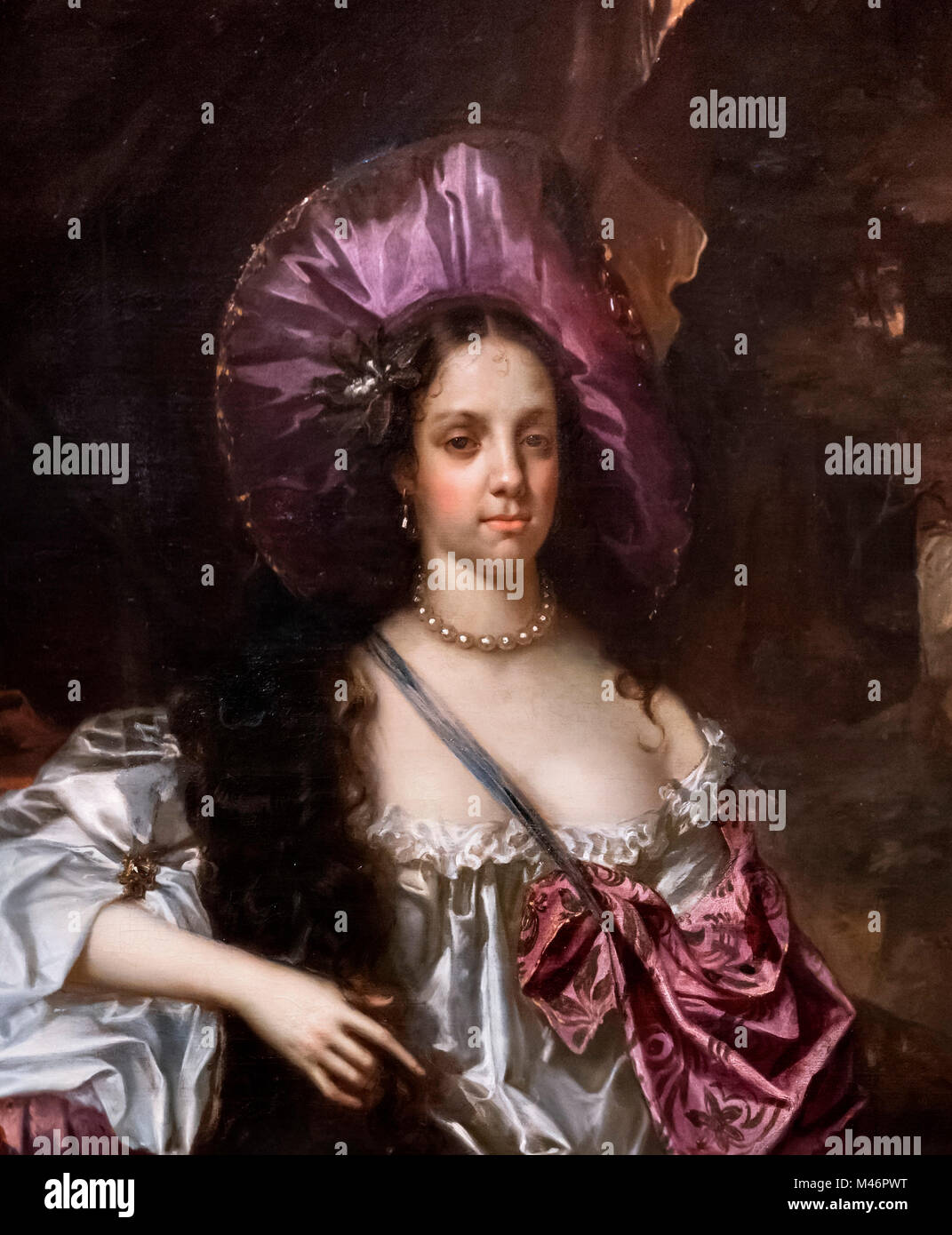 Catherine of Braganza (1638-1705), Queen Consort as wife of King Charles II.  Portrait by Hacob Huysmans, oil on - Stock Image