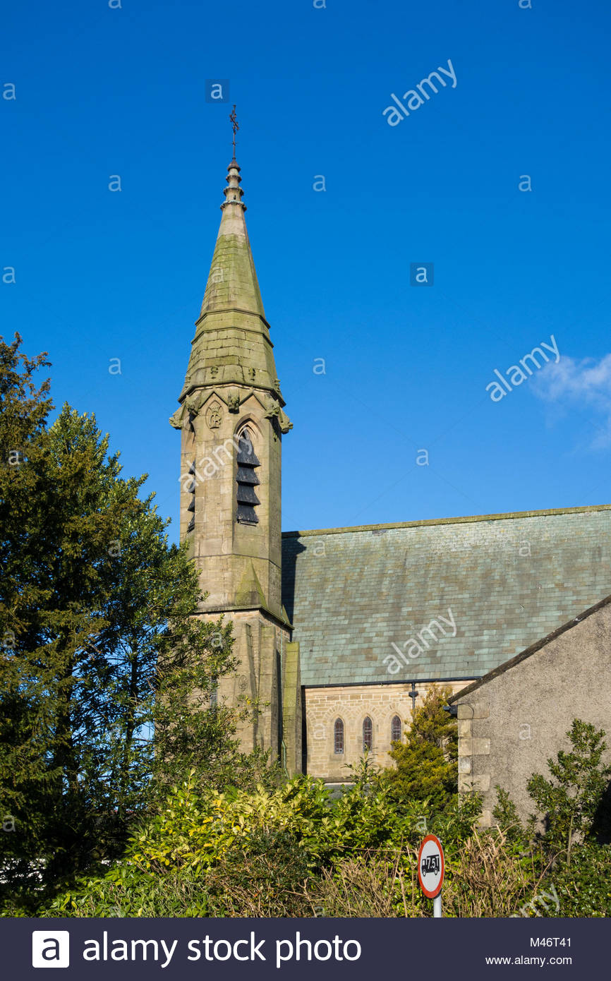 St Mary of the Angels Church. Bolton-le-Sands, Lancashire - Stock Image