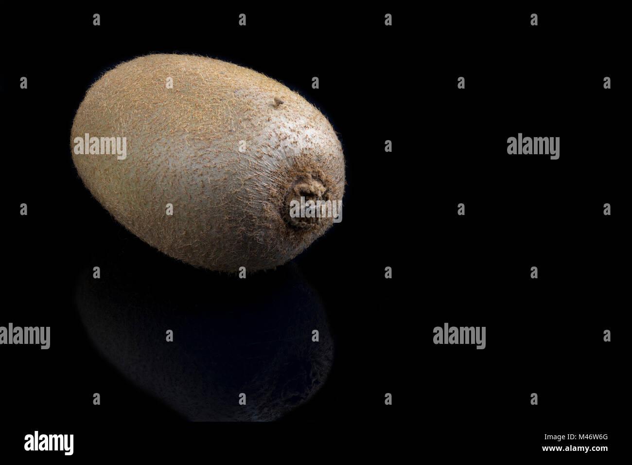 Kiwi on a black background. - Stock Image