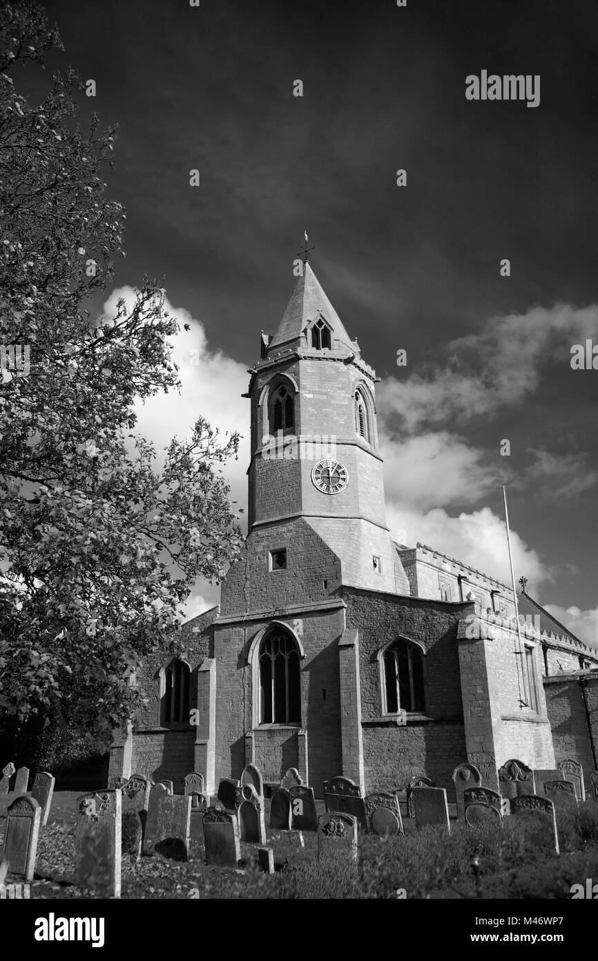 St Botolphs church, Helpston village, Cambridgeshire, England; UK - Stock Image
