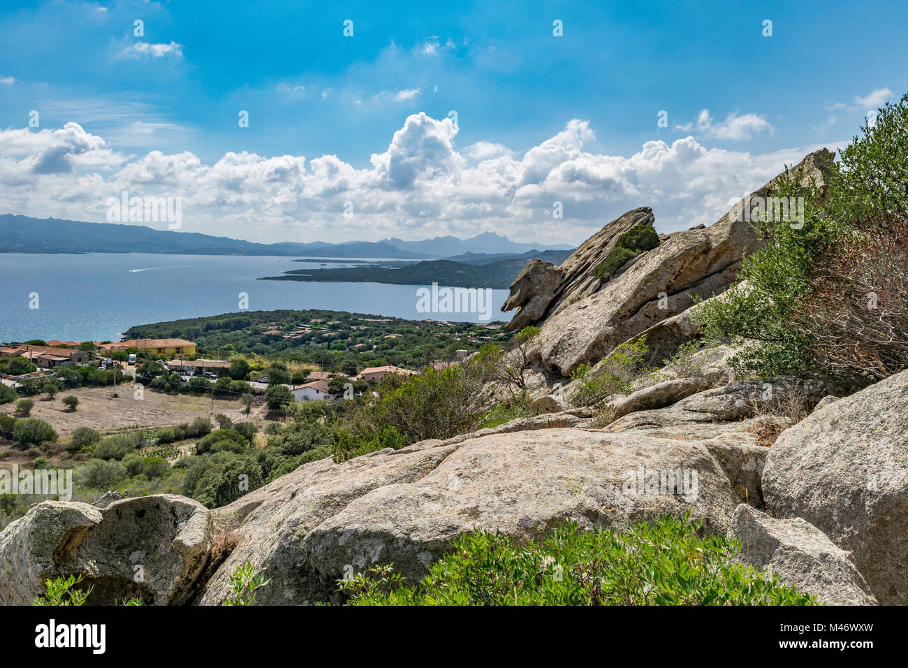 Taken on the path to Capo D'orso (Bear Rock) in northern Sardinia - Stock Image
