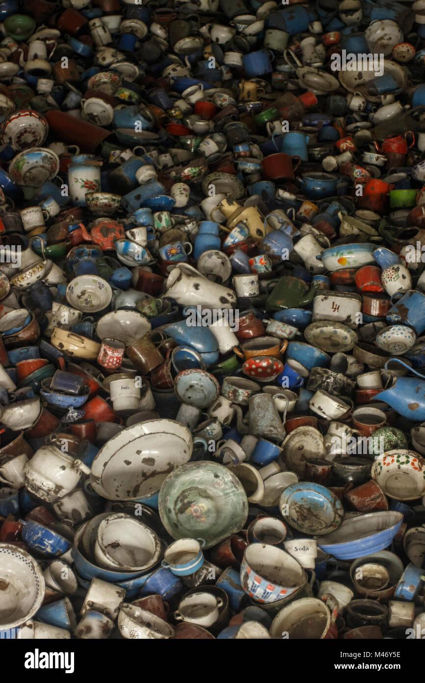 Auschwitz, Lesser Poland / Poland - Feb 04 2018: Auschwitz Birkenau, Nazi concentration and extermination camp. - Stock Image