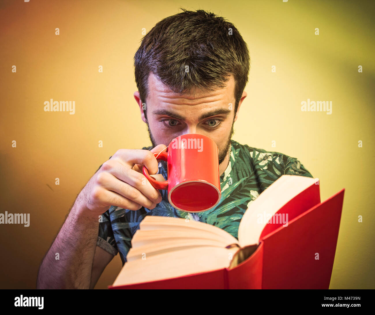 Book and coffee time - Stock Image