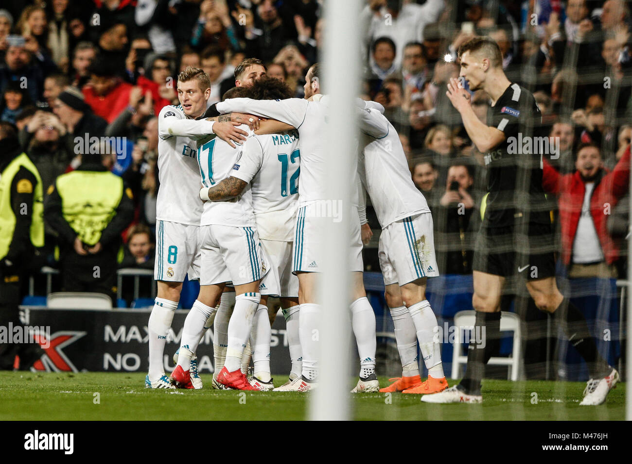 Marcelo Viera Real Madrid Celebrates His Goal Which Made It 3