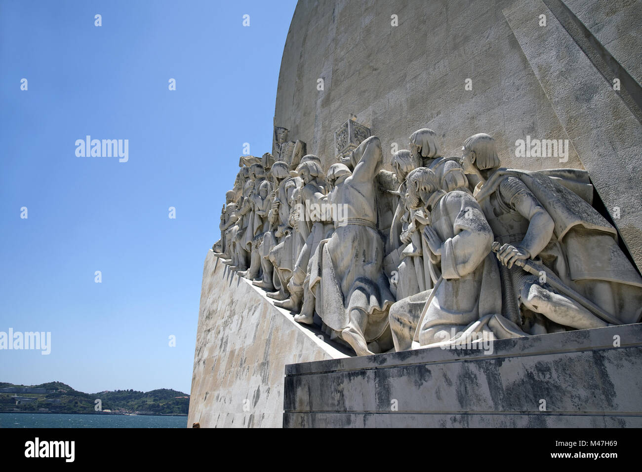 Monument to the discoveries, Lisbon, Portugal - Stock Image
