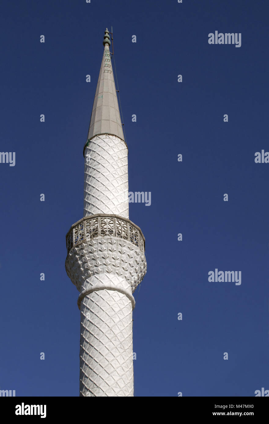 Minaret, view from below - Stock Image