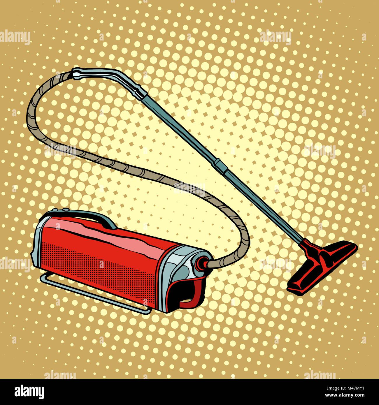 Retro vacuum cleaner home appliances - Stock Image