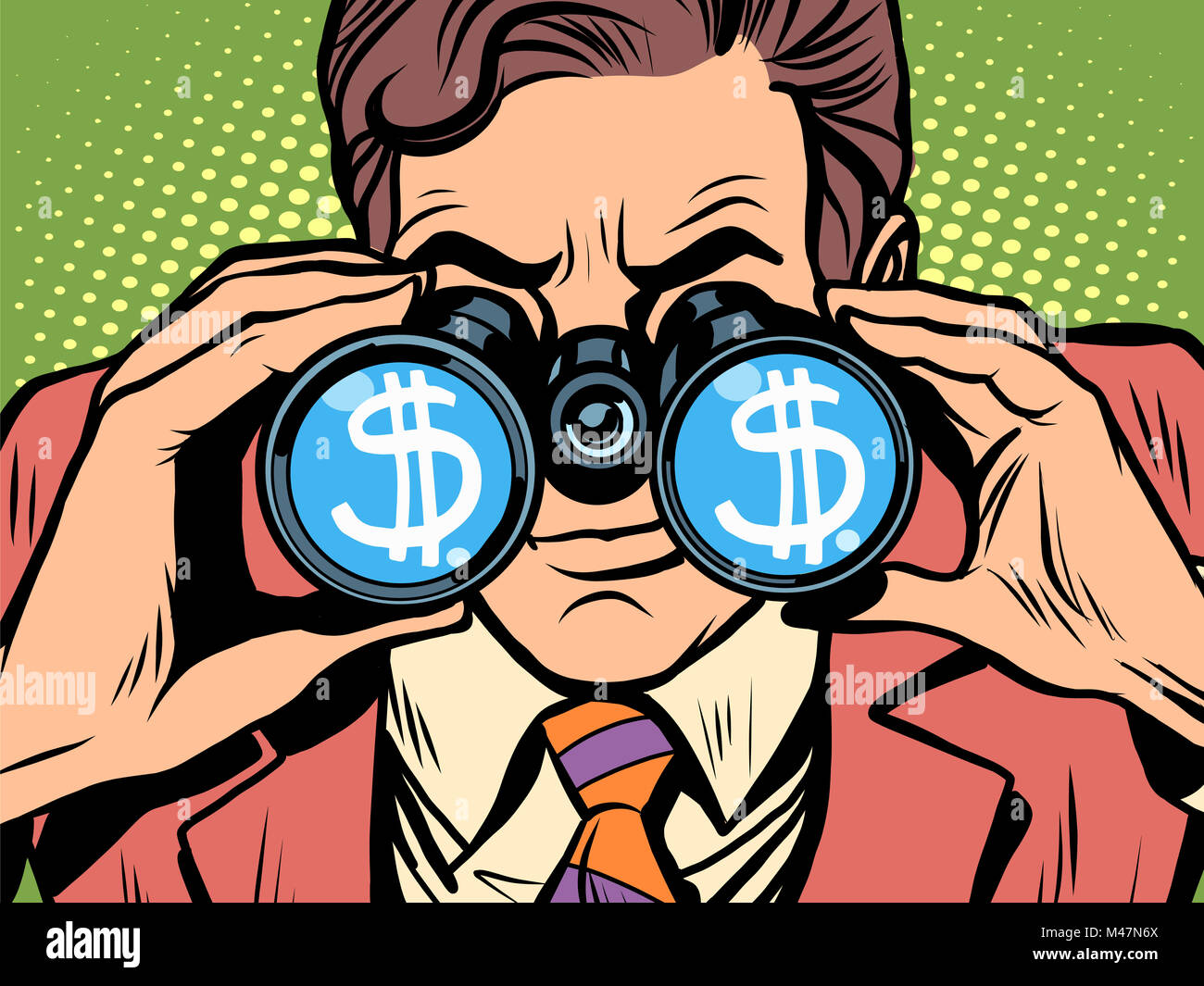 Monitoring the currency dollar exchange rate - Stock Image