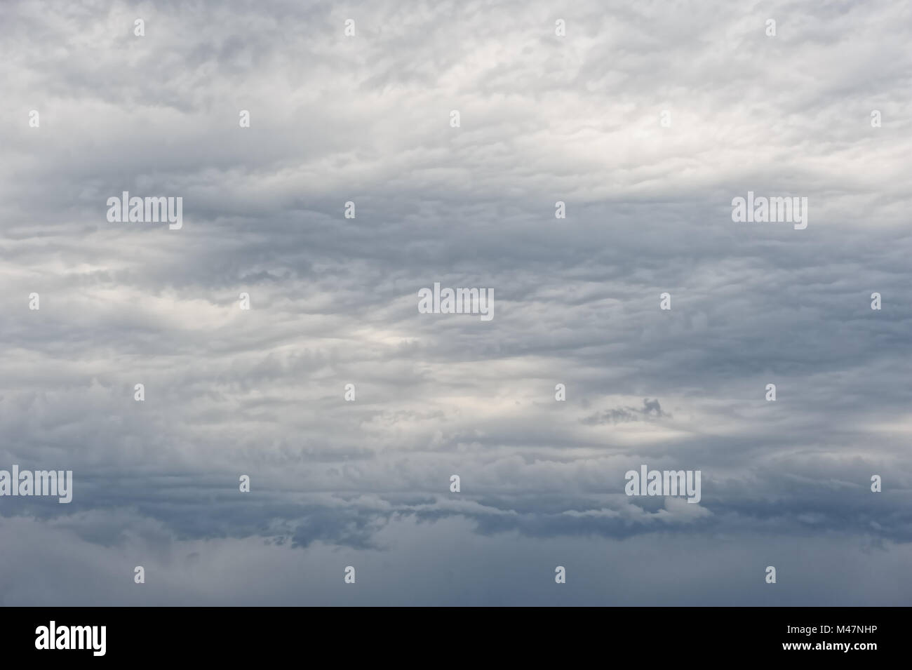 heavy overcast clouds - Stock Image