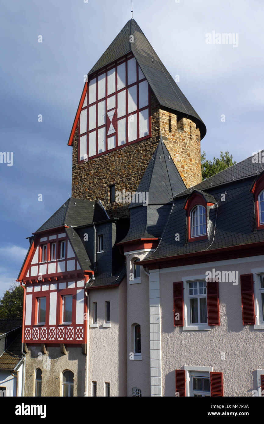 fortified tower as part of the city fortifications - Stock Image