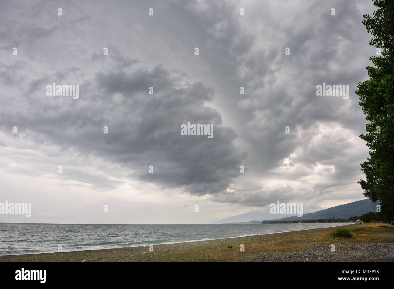 before the rainstorm - Stock Image