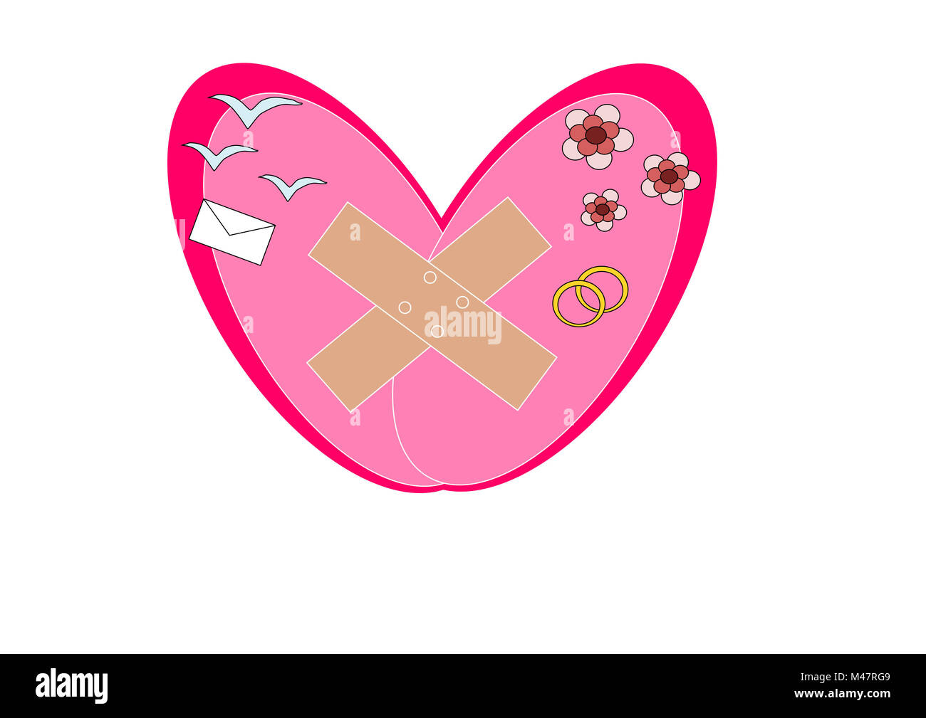 Repaired heart - Stock Image