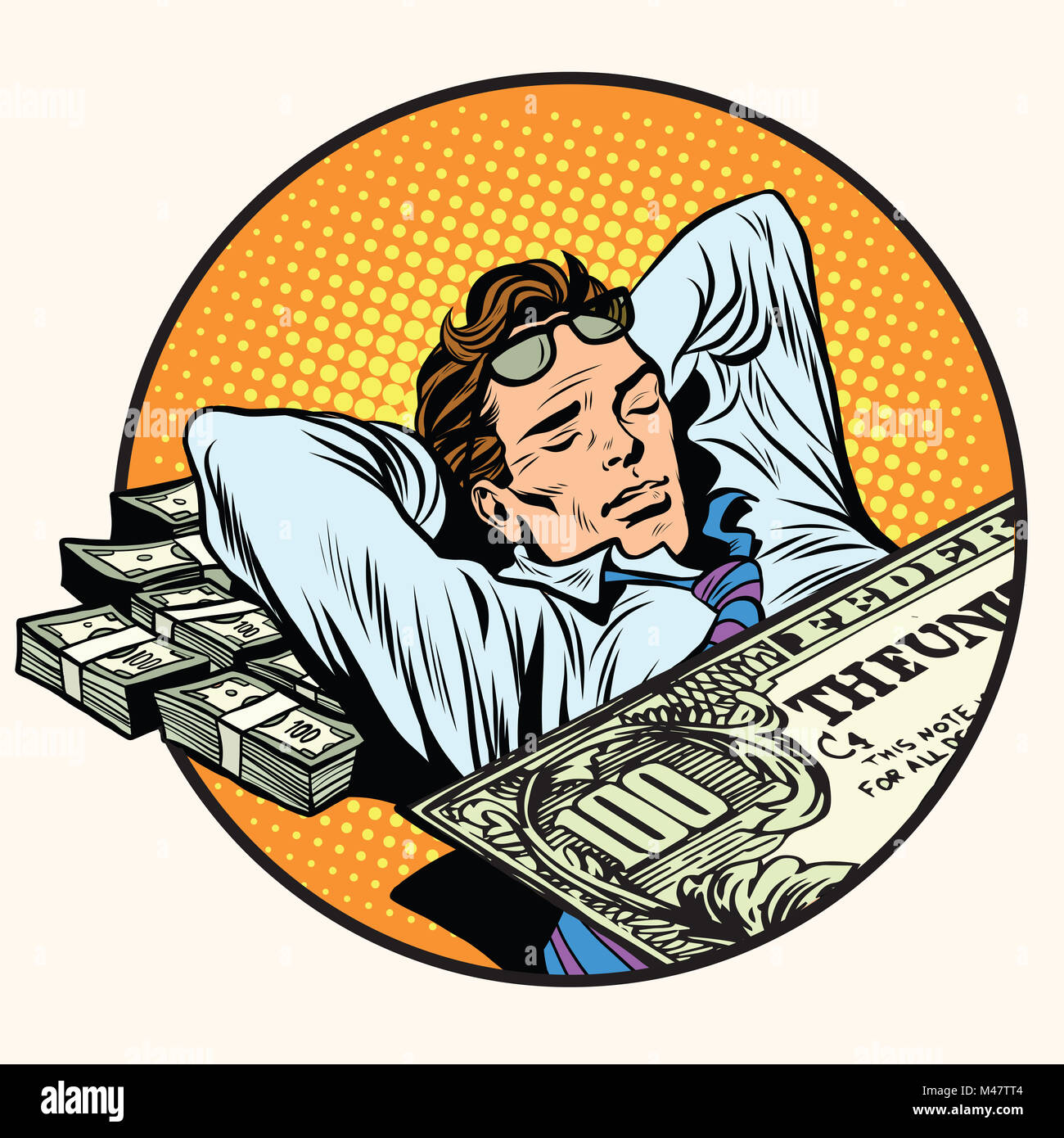 Dreams of riches business concept - Stock Image